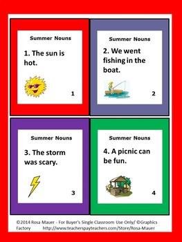 Nouns Summer Theme