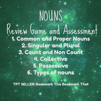 Nouns Review and Assessment