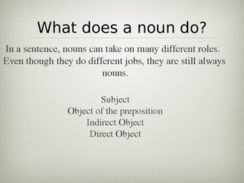 Nouns Review in Power Point