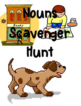 Nouns Scavenger Hunt {{2 sets of charts to fill in}}