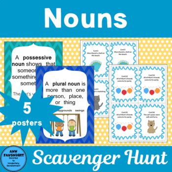 Nouns Scavenger Hunt and Posters