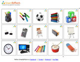 Nouns School Items - SmartEdTech Communication Cards