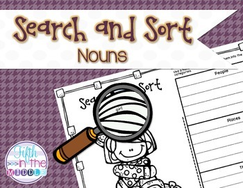 Nouns Search and Sort for Upper Elementary
