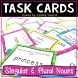 Nouns Task Cards (Singular and Plural Nouns Activities and Games)