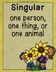 Word Work - Singular or Plural Nouns Sort {ABC Order, Anch