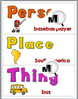 Nouns Sort – Set 3 – Noun Activity – Parts of Speech