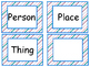 Nouns Sort by Person, Place or Thing      Five Activities