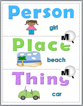 Nouns Sort - Set 1 - Noun Activity (Parts of Speech)