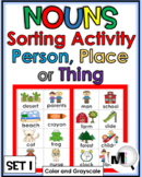 Nouns Sort - Set 1 - Noun Activity (Parts of Speech)