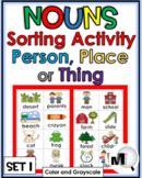 Nouns Sort - Nouns Picture Sort Set 1