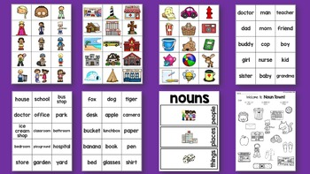 Nouns Sorting - Pictures and Word Cards - Nouns Printable