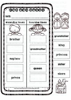 Nouns Sorts | Cut and Paste Worksheets
