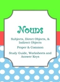 Nouns: Study Guide, Worksheets, and Answer Key
