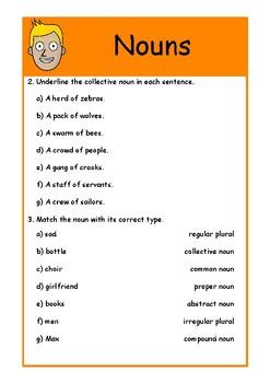 Nervous Nouns! Nouns Worksheet | Video Link in the Description