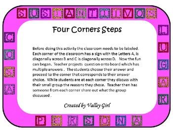 Nouns: Sustantivos Cuatro esquinas