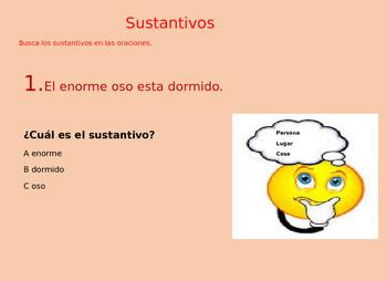 Nouns Sustantivos Powerpoint