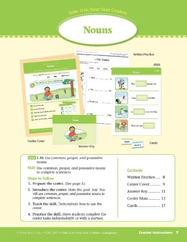 Nouns (Take It to Your Seat Centers: Common Core Language)