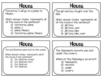 Nouns Poster and Task Cards