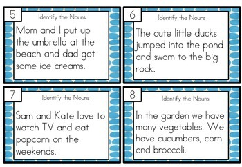 Nouns Task Cards Differentiated