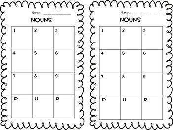 Nouns Task Cards Freebie!
