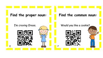 Nouns Task Cards (QR Codes)