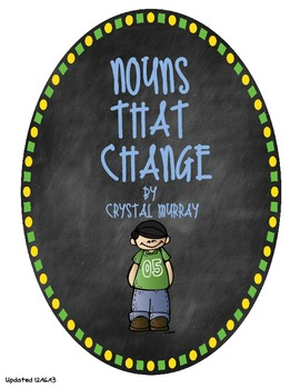 Nouns That Change Common Core L2.1b