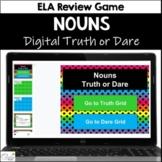Nouns Truth or Dare ELA Game for Google Classroom|Slides