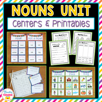 Nouns Unit (Kindergarten-2nd Grade)