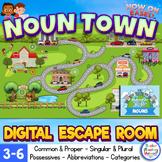 Nouns Upper Elementary Digital Escape Room - Noun Town