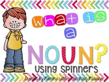 Nouns Using Spinner Literacy Center L.1.1