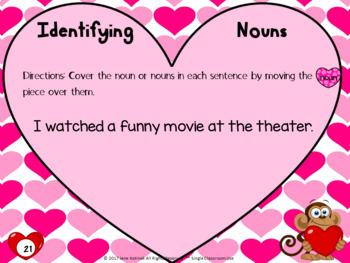 Nouns Valentine's Day Themed Digital Task Cards: Google Drive