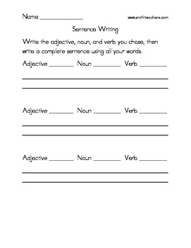 2nd Grade Common Core Nouns, Verb, and Adjectives
