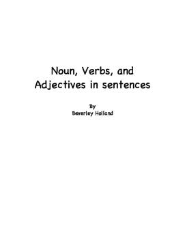 Nouns Verbs Adjectives