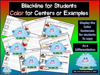 Nouns, Verbs & Adjectives AUGUST - BACK 2 SCHOOL Literacy Activities