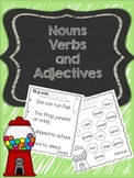 Nouns Verbs Adjectives Activty Pack