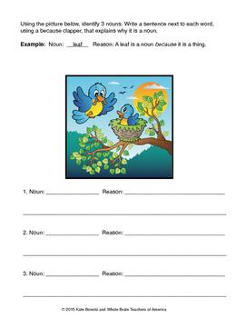 Nouns, Verbs, Adjectives Bundle