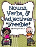 Nouns, Verbs & Adjectives *FREEBIE*