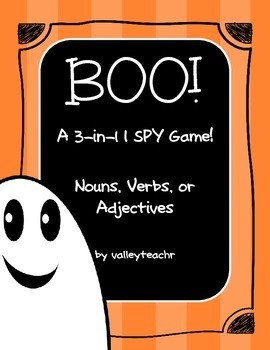 "Nouns, Verbs, Adjectives ""I Spy"" Activities"