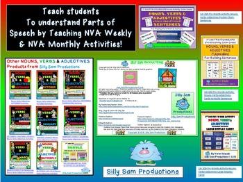 Nouns, Verbs & Adjectives JUNE - SUMMER Literacy Activities