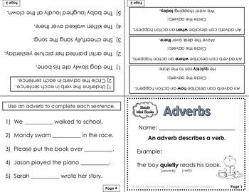 Parts of Speech Activities (Nouns, Verbs, Adjectives): Simply Mini Books
