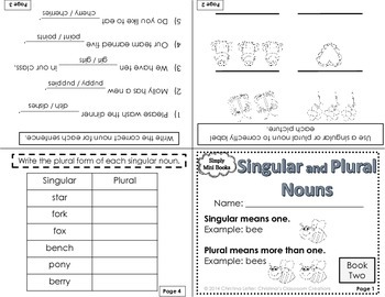Parts of Speech Activities (Nouns, Verbs, Adjectives): Simply Mini Books