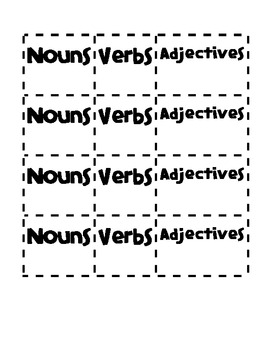 Nouns, Verbs, Adjectives-November Word Sort