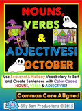 Nouns, Verbs & Adjectives OCTOBER Activities!