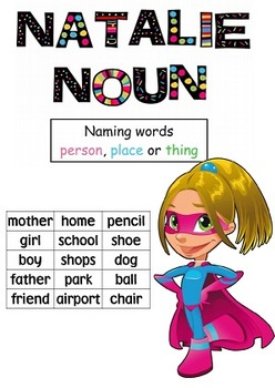 Nouns, Verbs, Adjectives Pack