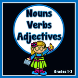 Nouns, Verbs and Adjectives Printables