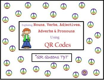 Nouns, Verbs, Adjectives, Pronouns, Adverbs using QR Codes Bundle