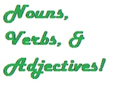 Nouns, Verbs, Adjectives Quiz