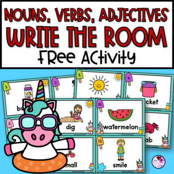 Nouns, Verbs, Adjectives Scoot **FREE**