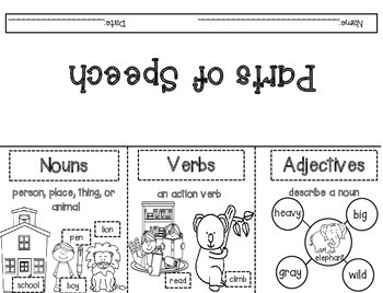 Nouns, Verbs and Adjectives
