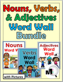 Nouns Verbs & Adjectives Word Wall Bundle